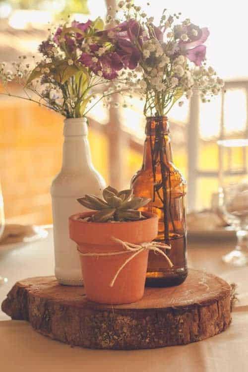 casamento decorado com suculenta