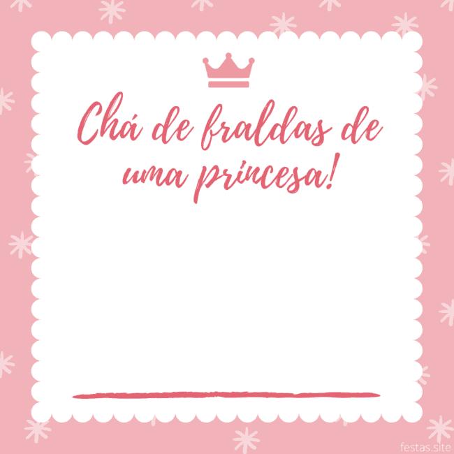 convite de princesinha grátis