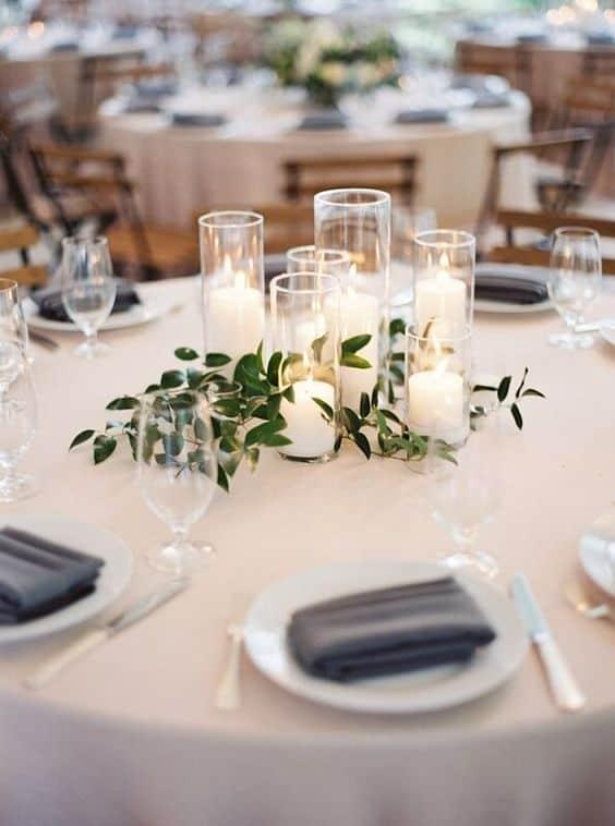 decoração simples e barata para mesas