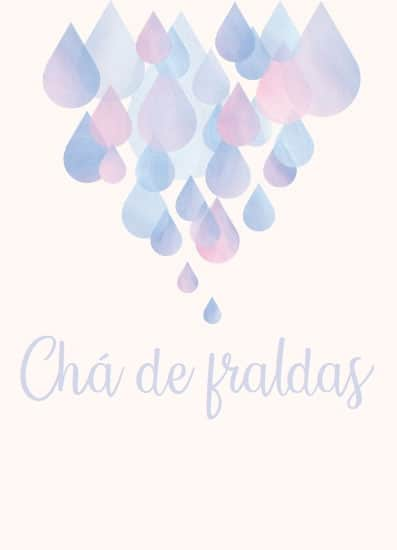 convite simples chuva de amor
