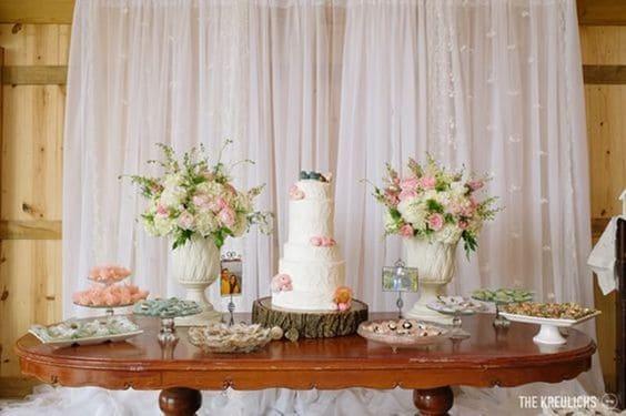 mesa de bolo simples