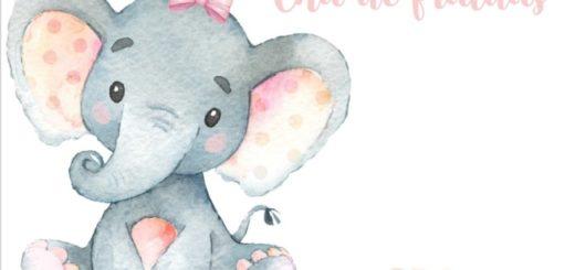 convite de elefantinha para imprimir grátis