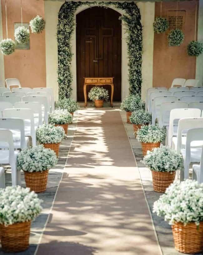 decoração simples para cerimônia de casamento