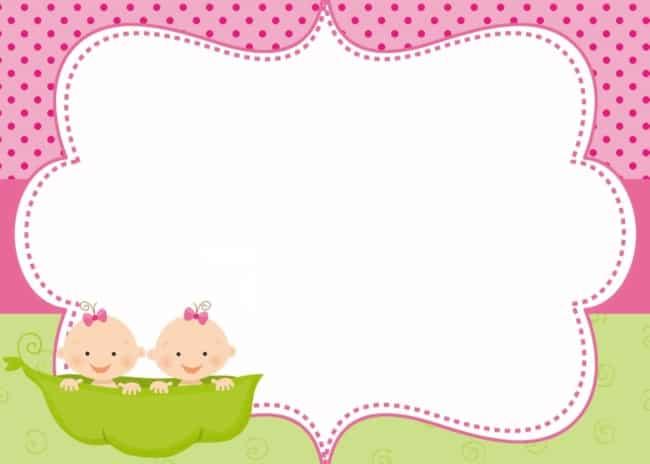 convite chá de fraldas de gêmeas