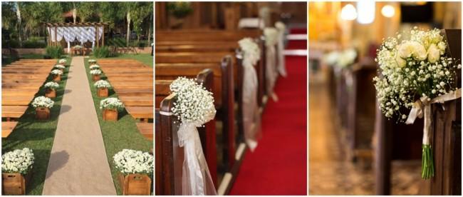 decoração simples de cerimônia de casamento