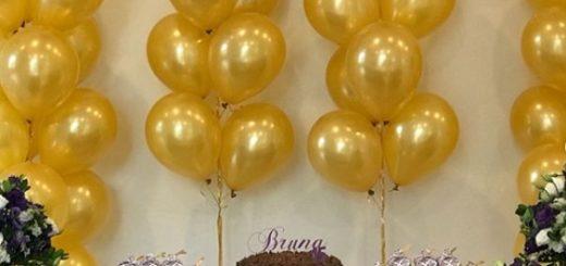 festa de 15 anos decora com balões