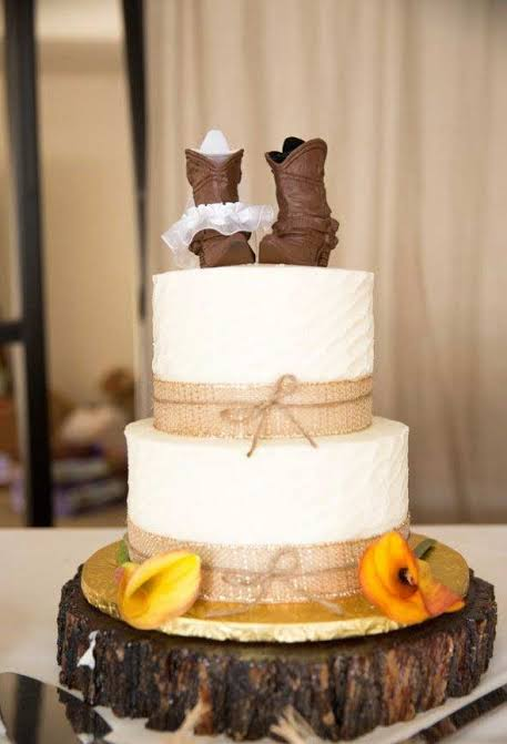 Casamento Country bolo simples