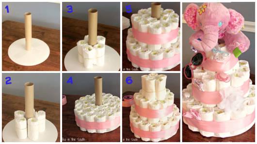 Como fazer um bolo de fraldas