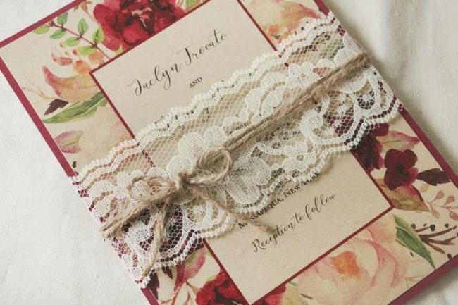 Convite de Casamento Country ideias