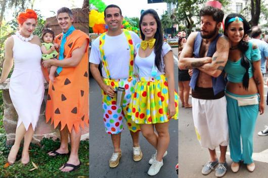 Fantasia criativa para casal de Carnaval