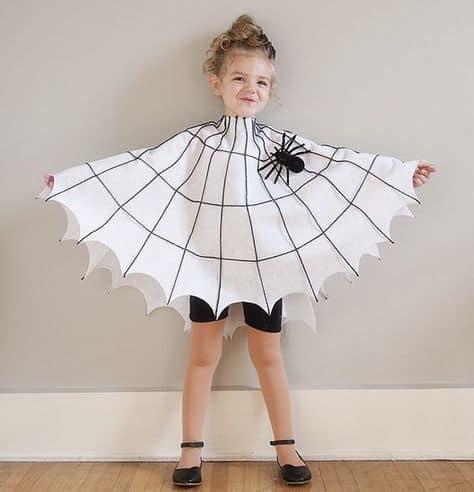 Fantasia de teia de aranha para criança