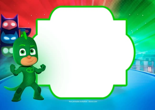 Kit festa PJ Masks convite digital