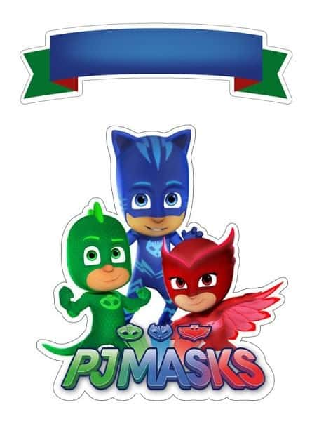 Kit festa PJ Masks topper