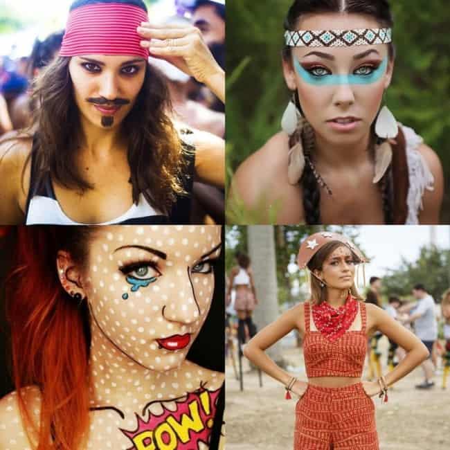 Maquiagem feminina de Carnaval
