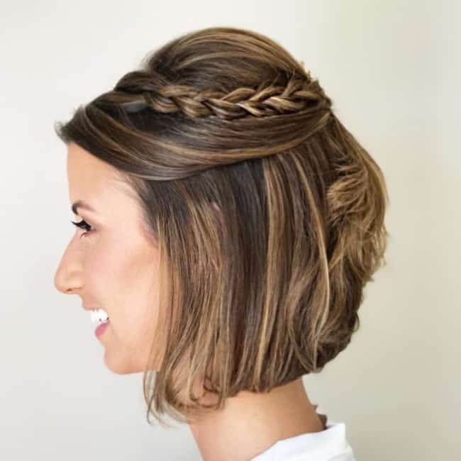 Penteado para cabelo curto para casamento