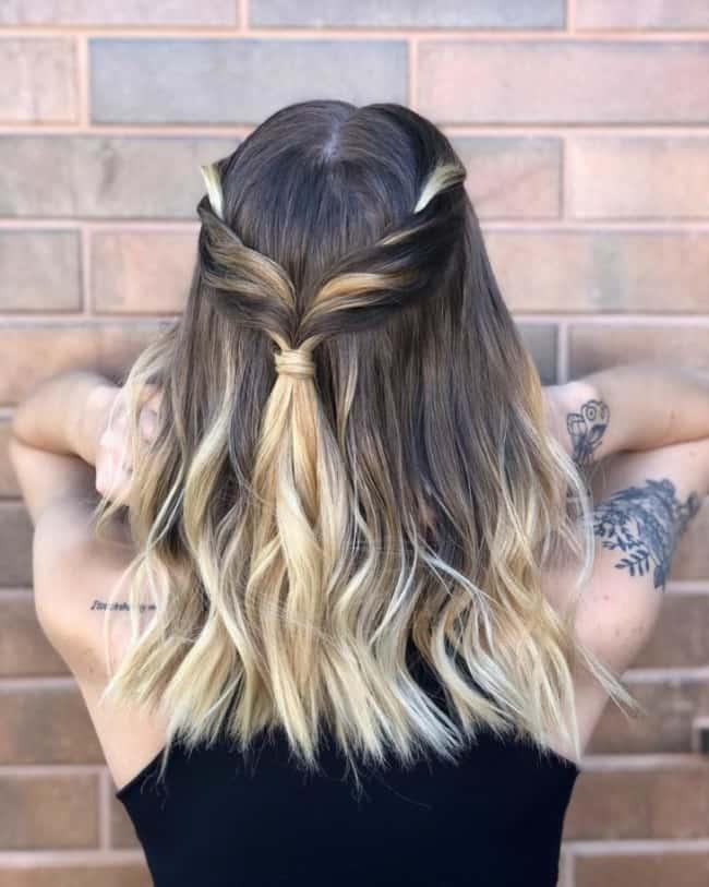 Penteado para casamento para cabelo médio