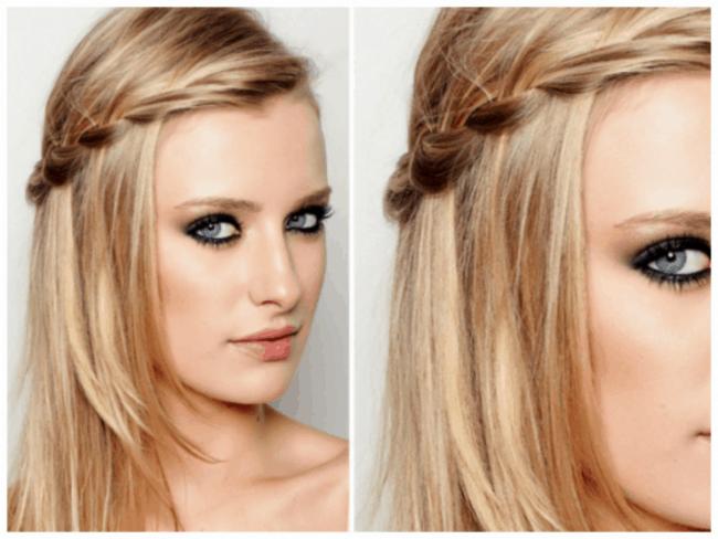 Penteado para casamento simples para cabelo médio