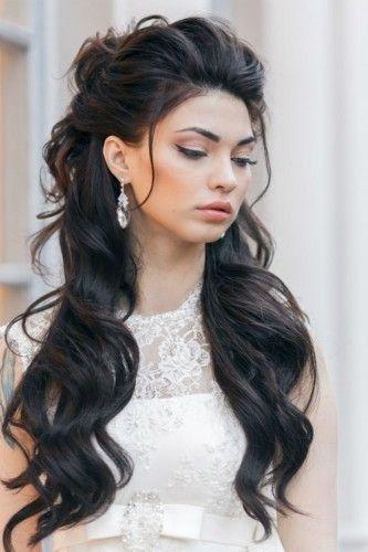 Penteado semi preso para ir à casamento