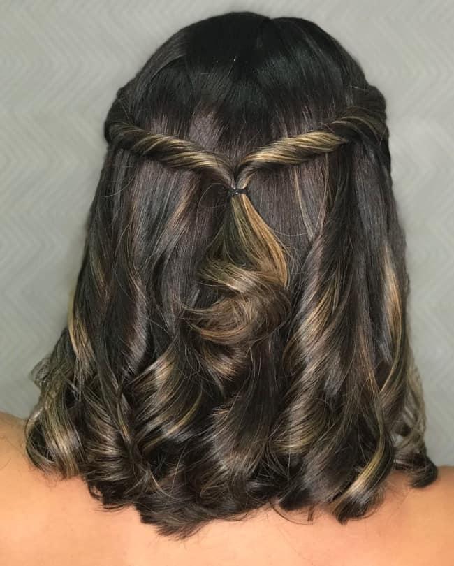 Penteado simples para casamento com cabelo médio