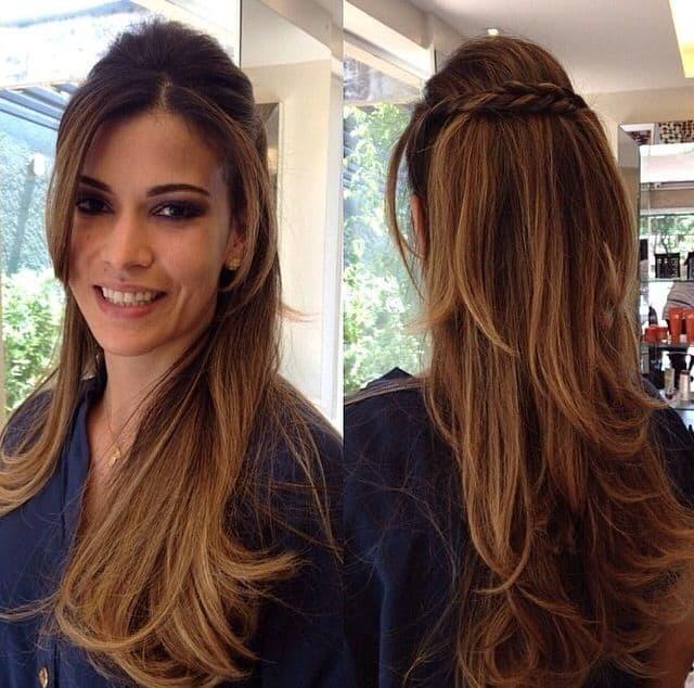 Penteado simples para casamento para cabelos lisos