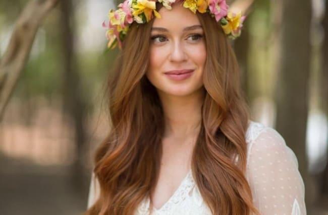 Penteado solto para noivas