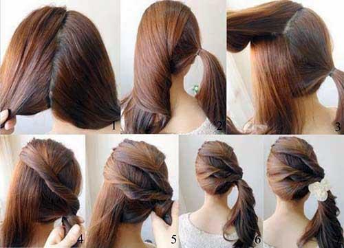 Penteados simples para casamento DIY