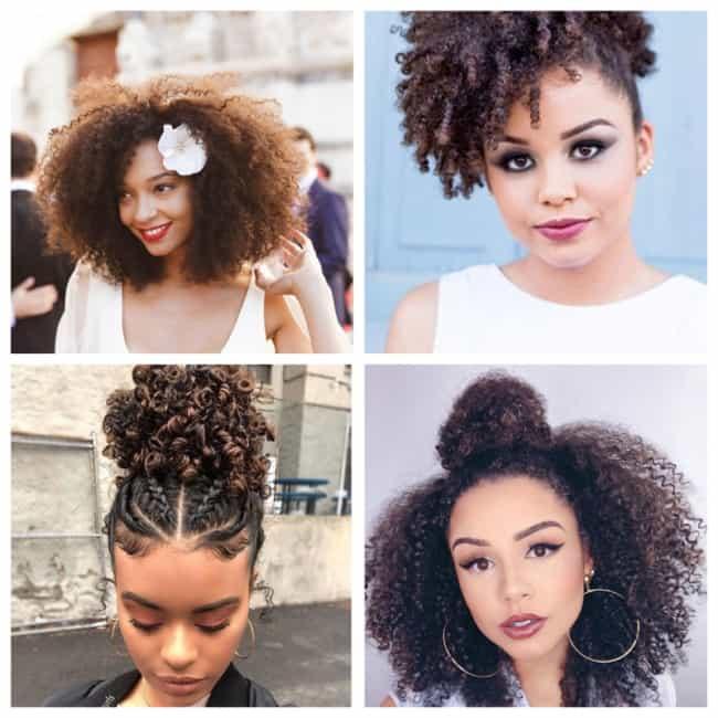 Penteados simples para casamento com cabelo crespo
