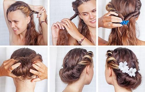 Penteados simples para casamento