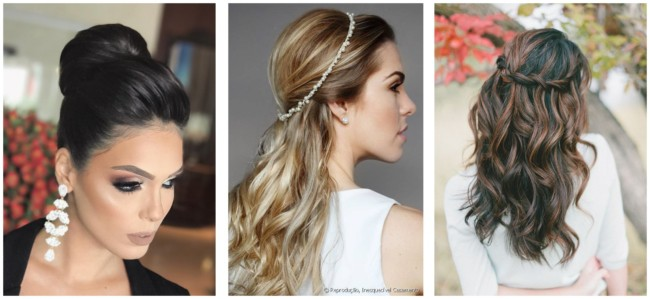 Penteados simples para casamentos 1