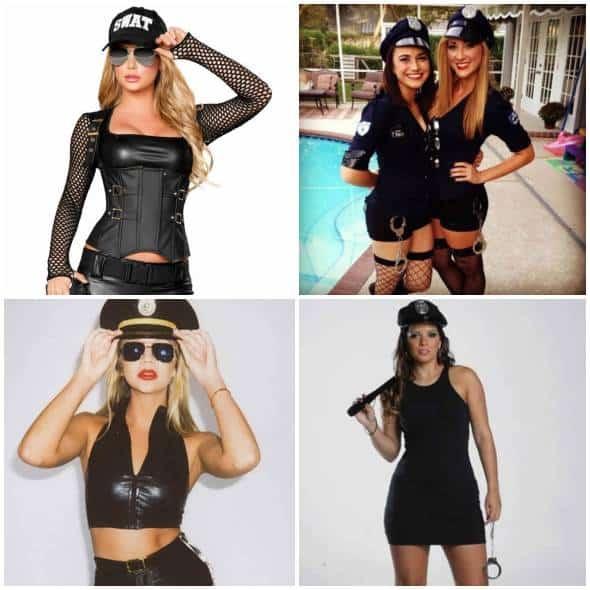 Vários modelos de fantasias de policial femininas