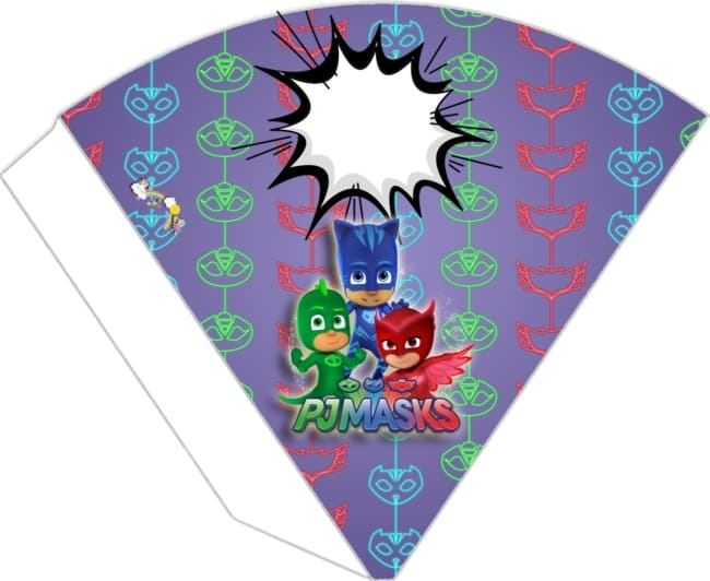 cone estampado Kit festa PJ Masks