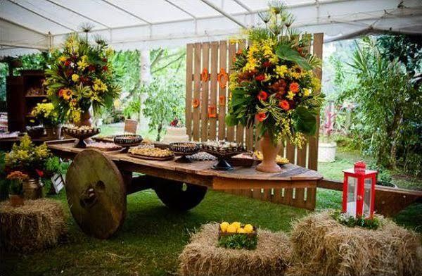 decoração de Casamento Country