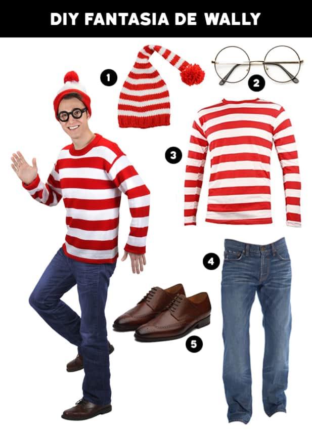 fantasia de carnaval masculina de Wally