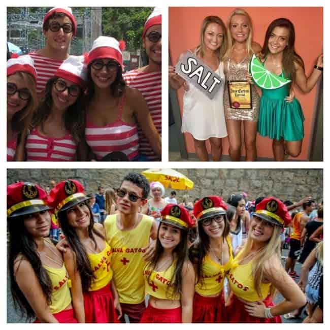 fantasia de carnaval simples em grupo