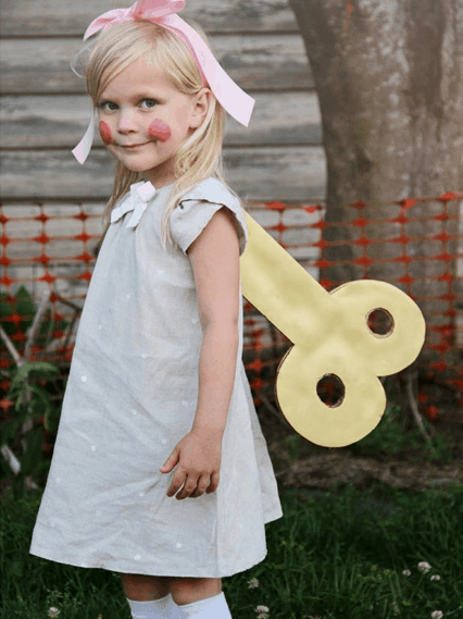 fantasia infantil simples boneca