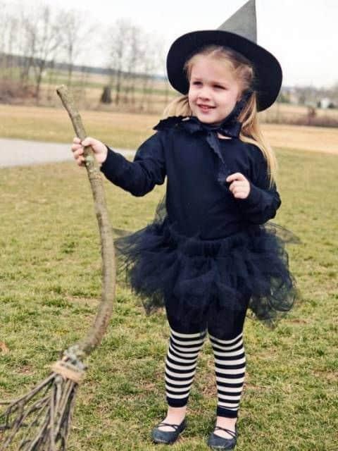 fantasia infantil simples bruxa