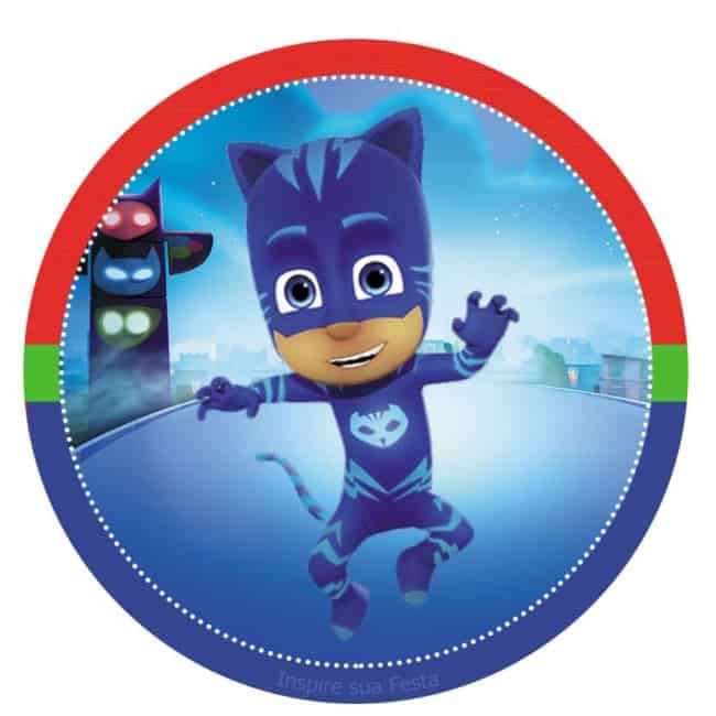 rotulo personagem Kit festa PJ Masks