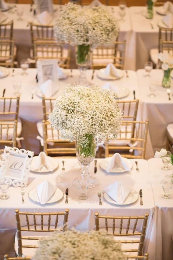 casamento clássico e simples decorado com mosquitinhos