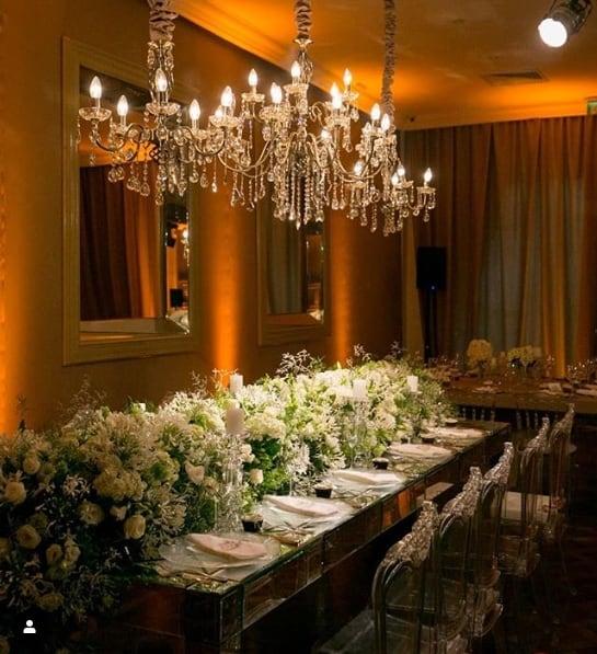 decoração de festa de casamento clássica e romântica