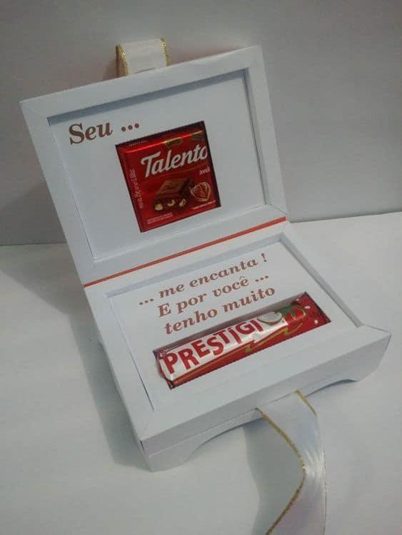caixa criativa de chocolates