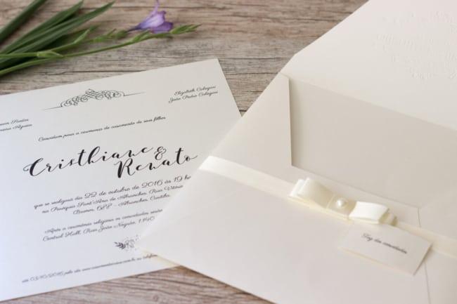 convite com envelope para casamento