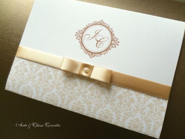 convite simples e clássico para casamento