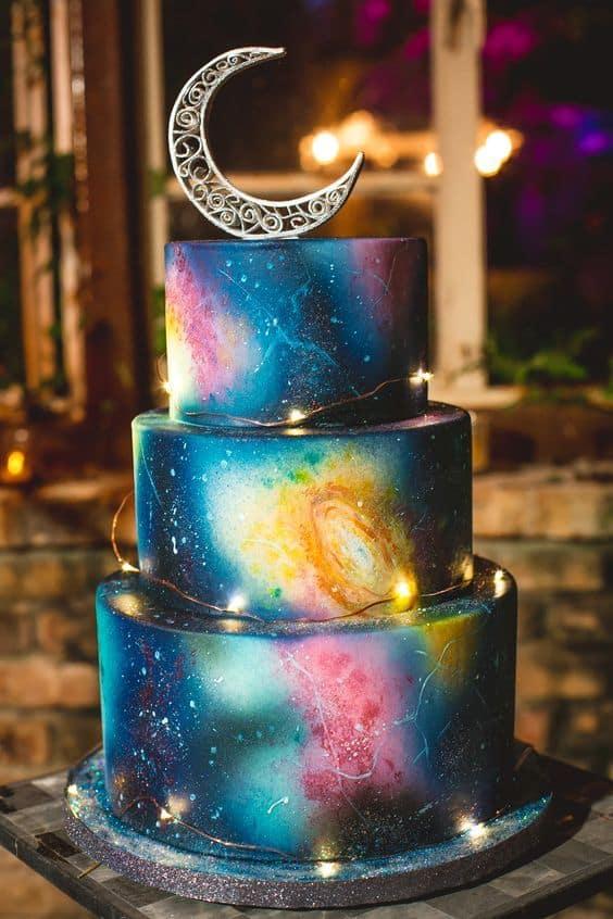 bolo de 15 anos galáxia