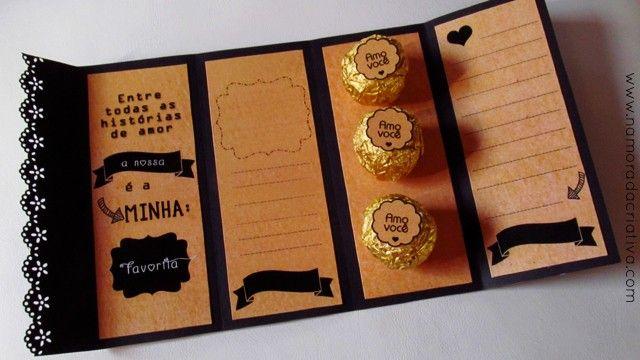 cartão de páscoa personalizado com chocolate