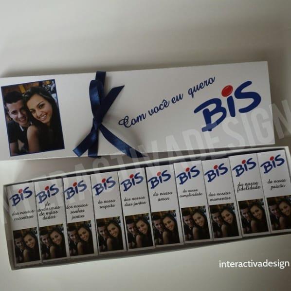 caixinha de Bis personalizada com foto do casal