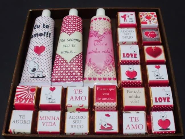 caixa de bombons de chocolate personalizada