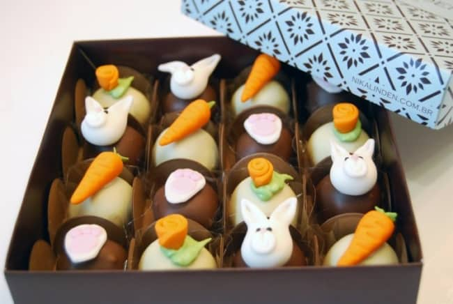caixa de chocolate decorada para páscoa