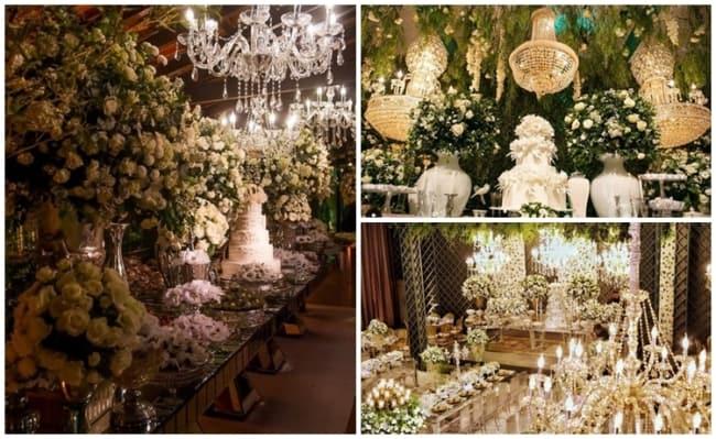 decoração luxuosa para casamento clássico