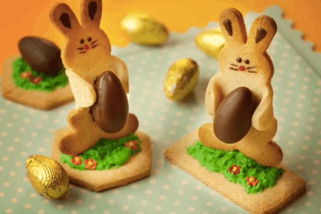 Biscoito de Páscoa com chocolate