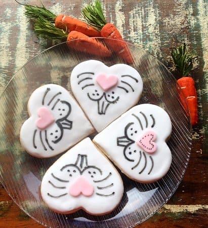 Biscoito de Páscoa de coração